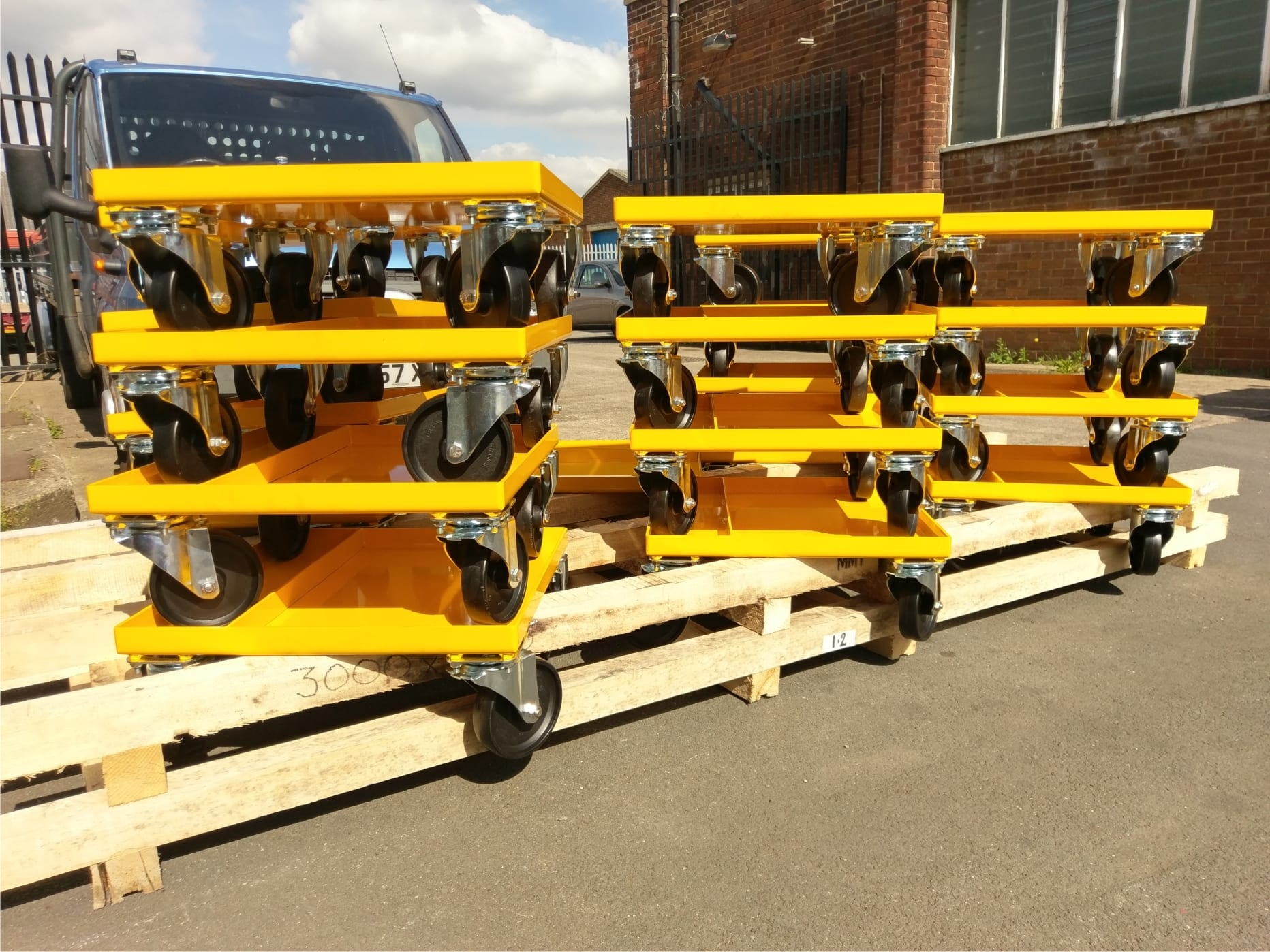 Trolleys powder coated